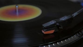 close-up do laço do disco de vinil 4k video