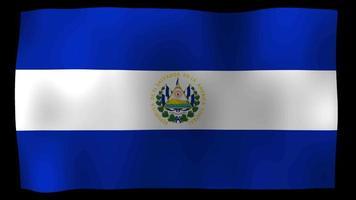 El Salvador Flag 4K Motion Loop Stock Video