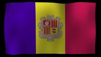 Andorra Flag 4K Motion Loop Stock Video