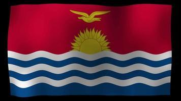 Kiribati Flag 4K Motion Loop Stock Video