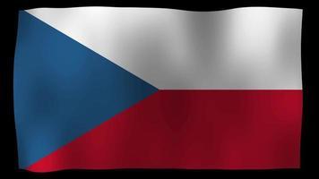 The Czech Republic Flag 4K Motion Loop Stock Video