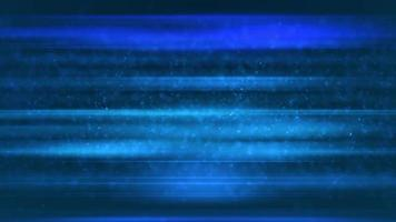 Blue soft particles floating on background with glowing lines video