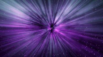 Fondo de movimiento de rayos de luz de galaxia púrpura 4k