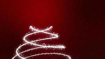 Christmas Tree Background - Merry Christmas red