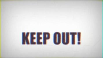 pas d'intrusion garder hors signe vidéo de pépin