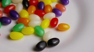 Rotating shot of colorful Easter jelly beans - EASTER 088