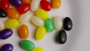 Rotating shot of colorful Easter jelly beans - EASTER 092