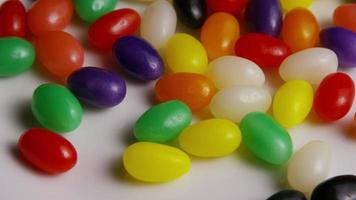Rotating shot of colorful Easter jelly beans - EASTER 089