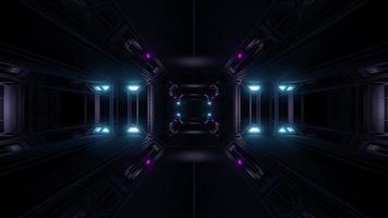 túnel de ciencia ficción futurista video