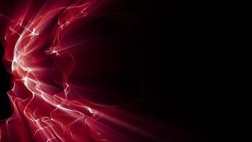 ondas de luz fractal vermelha ondulam e brilham video