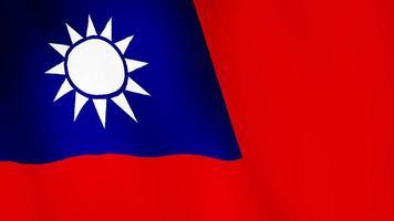 bandiera di taiwan sventolando, uno sfondo di animazione bandiera. video