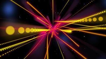 partículas de línea curva colorida abstracta