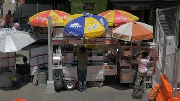 carritos de comida en la ciudad de nueva york 4k