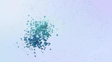 teléfono comunicación icono animación burbujas salpicar elementos morphing