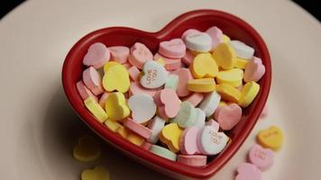Rotating stock footage shot of Valentine's Day candy - VALENTINES 014 video
