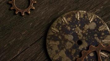 rotação de imagens de estoque de mostradores de relógio antigos e resistidos - mostradores de relógio 060