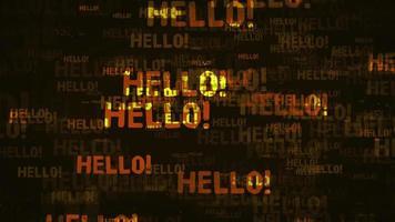 bonjour la boucle de fond de message