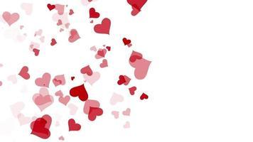 movimento coração vermelho sobre fundo branco