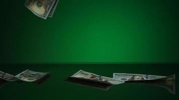 American $100 Bills Falling onto a Reflective Surface - MONEY PHANTOM 050 video