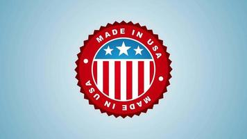 Made in USA Abzeichen Animation video