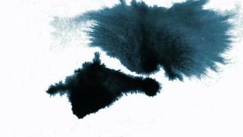 inktdruppels en verspreid op een witte achtergrond