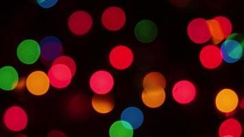 bokeh de luz de árbol de navidad