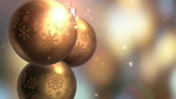 Weihnachts- und Neujahrsdekoration. abstrakter goldener verschwommener bokeh Feiertagshintergrund. Weihnachtsbaum Lichter funkeln.