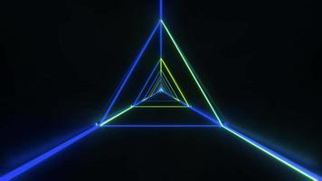 estructura metálica triangular con estilo abstracto video