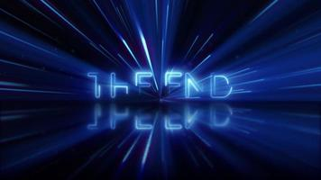 The End movie or film end title page.
