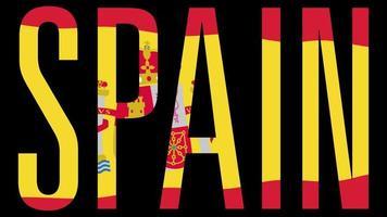 Flagge Spaniens mit Typmaske im Vordergrund. Spanien.