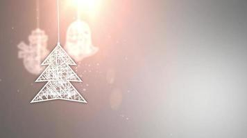 papel branco sinais de árvore de natal caindo festivo celebração sazonal espaço reservado fundo cinza video