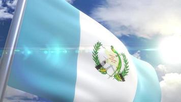 animação da bandeira da guatemala