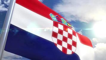 agitando bandeira da croácia animação