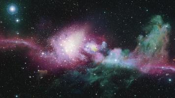 galáxia espacial e nebulosa