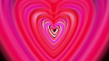 bucle de animación de amor del día de san valentín