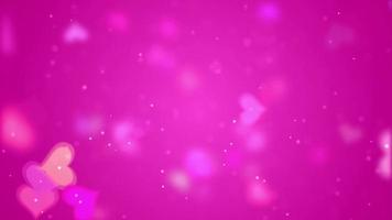 Pink Hearts Video Background