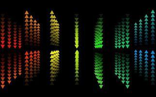 triangoli arcobaleno su e giù