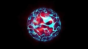 boule de plasma abstraite énergie 4k