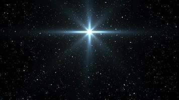 fallender Schnee und leuchtender Stern video