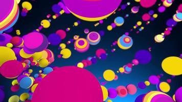 fundo de movimento 4k de esferas de festa
