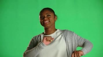 Young African American Woman Laughing Dancing 3