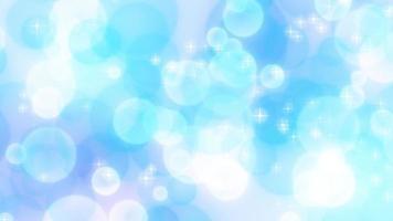 círculos azules que fluyen hacia los lados