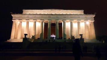 memorial lincoln à noite 4k