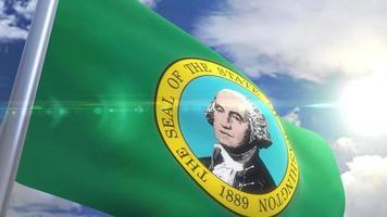 Bandeira do estado de Waschington, EUA