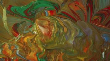 mistura de tintas vibrantes movidas pelo vento video