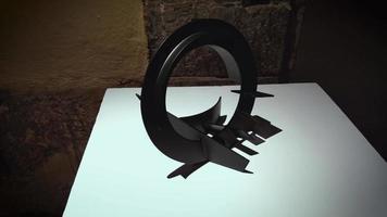 sculpture géométrique de rodrigo santa cruz anchissi