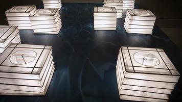 Proben traditioneller schwimmender Laternen aus Japan