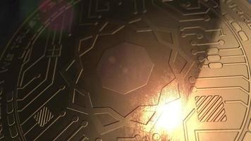 crypto monnaie science pièce de rendu 3d blockchain