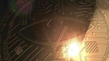 crypto currency singular dtv coin renderização em 3d blockchain
