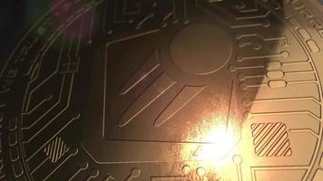 crypto currency starta coin renderização em 3d blockchain